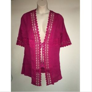 Catherines Kimono Swim Cover Up Plus Size NWT